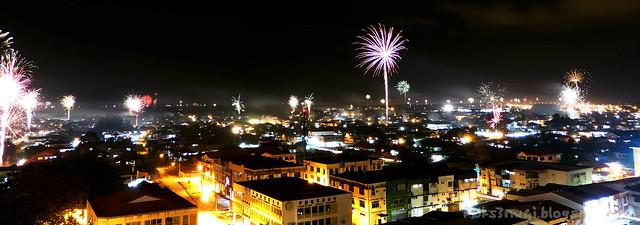 Kuching Fireworks CNY Eve