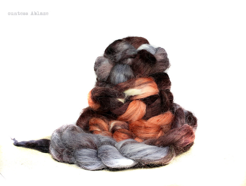 Wool free, faux angora fibre for spinning