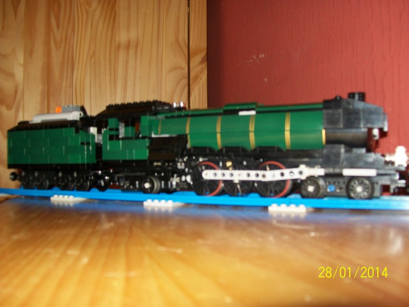 Moc Lego Lner Flying Scotsman Steam Locomotive Lego Train Tech