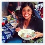 Desayunando sopa de noodles #luangprabang #laos