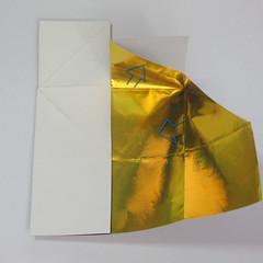 วิธีพับกระดาษเป็นรูปหัวใจติดปีก (Heart Wing Origami) 013