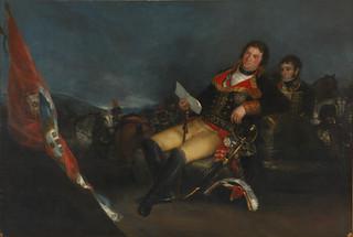"""""""Godoy como general"""",. de Goya, en el que lo retrata como vencedor de la Guerra de las Naranjas."""