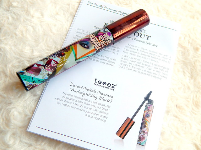 February You Beauty Discovery Box || Review Teez Desert Metals Mascara