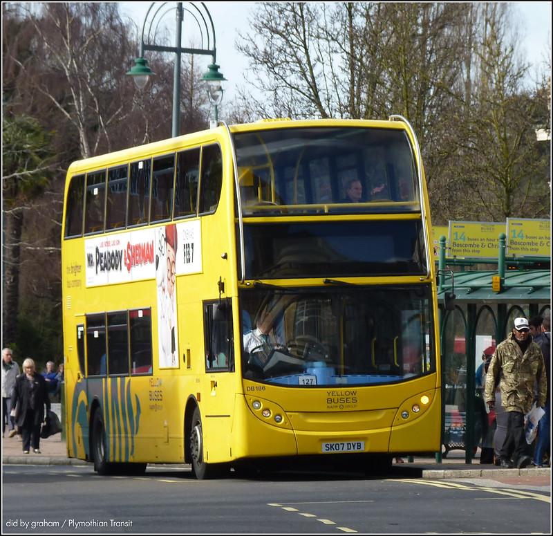 Yellow Buses DB186 SK07DYB