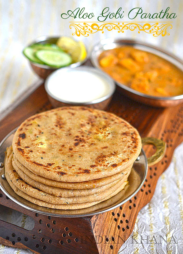 Aloo gobi gobhi paratha paratha recipes indian khana aloo gobi paratha recipe forumfinder Image collections