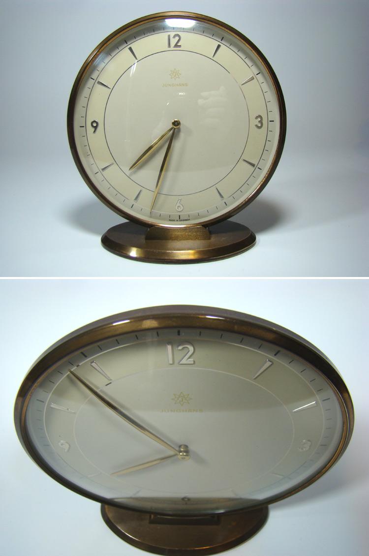 junghans tisch uhr 8 tage werk modernist desk clock. Black Bedroom Furniture Sets. Home Design Ideas