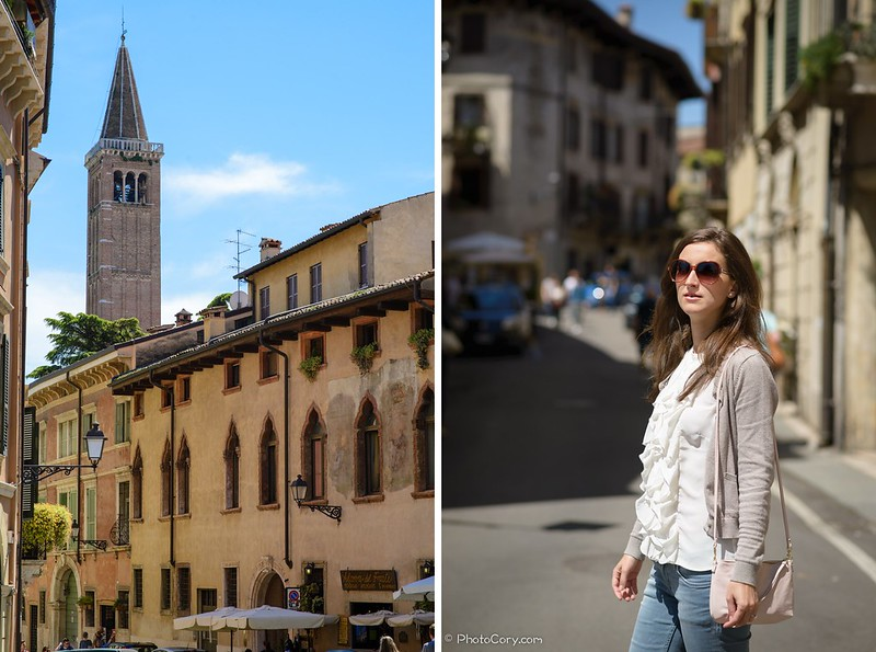 on the streets of Verona