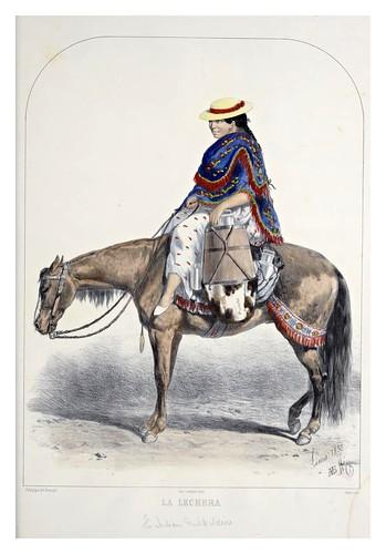 010- La lechera-Recuerdos de Lima, álbum, tipos, trajes y costumbres Vol 2-1857-Bonaffé A.A.