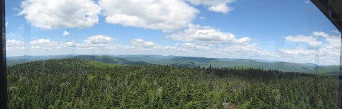View north from Balsam Lake Mountain