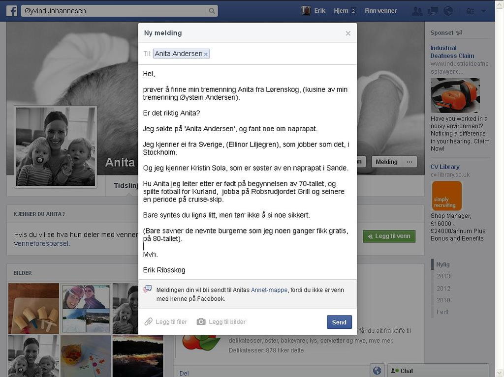anita facebook hm