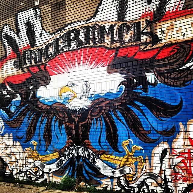 #hamtramck #detroit woopwoop! #eagle #streetart #graffiti #usa