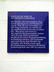 Photo of Englische Kirche St. Thomas a Becket, Hamburg blue plaque