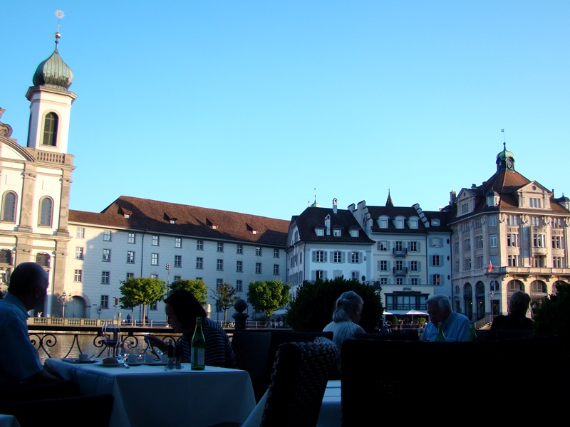 Hotel des Balances Luzern patio