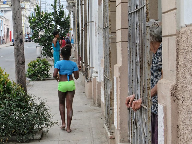 Watching through the bars in Cienfuegos, Cuba