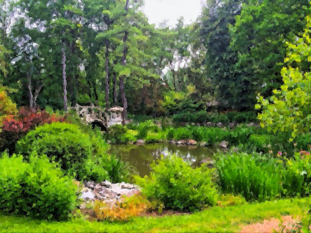Japanese Garden in Fabyan FP Impressionist 20140705