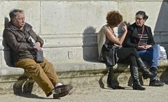Parisians enjoying their parks