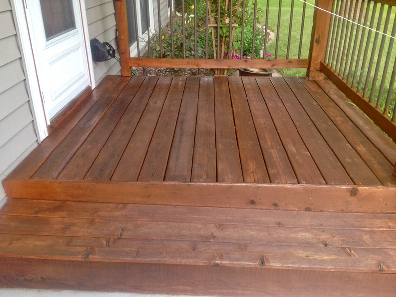 Deck after staining