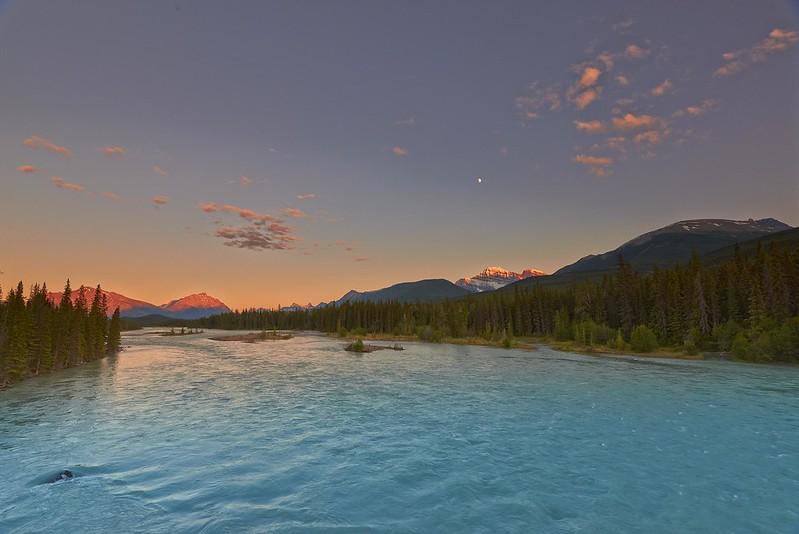 Sunset on the Athabasca River - Jasper National Park