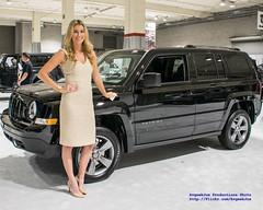 Erin Posing W/ @Jeep Liberty @SeaAutoShow