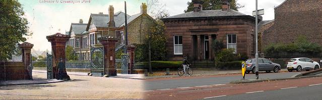 Cressington Park Entrance, Grassendale,  1905 in 2016
