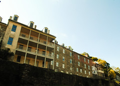 precarious 18th century cliff-side homes, harpers ferry, w.va