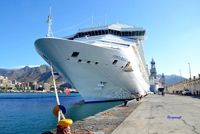 mooring at the wharf in Santa Cruz de Tenerife