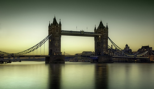 Tower Bridge,before dawn.