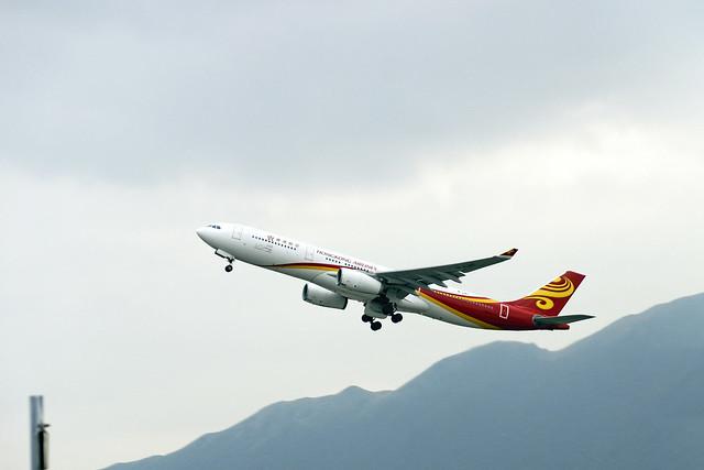 Hong Kong Airlines Airbus A330-343 B-LNT HX312 HKG->PEK dep HKG