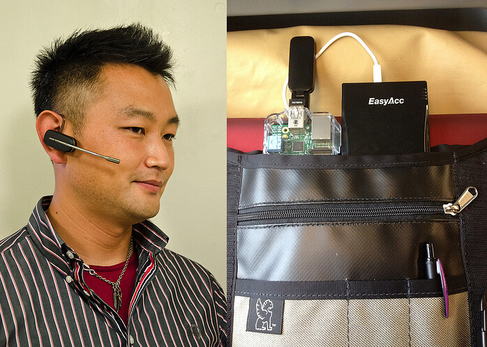 Voice operating wearable computer