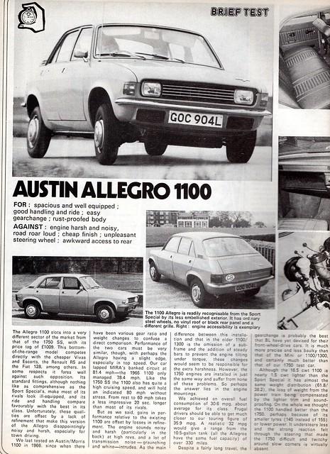 Austin Allegro 1100 Road Test 1973 (1)