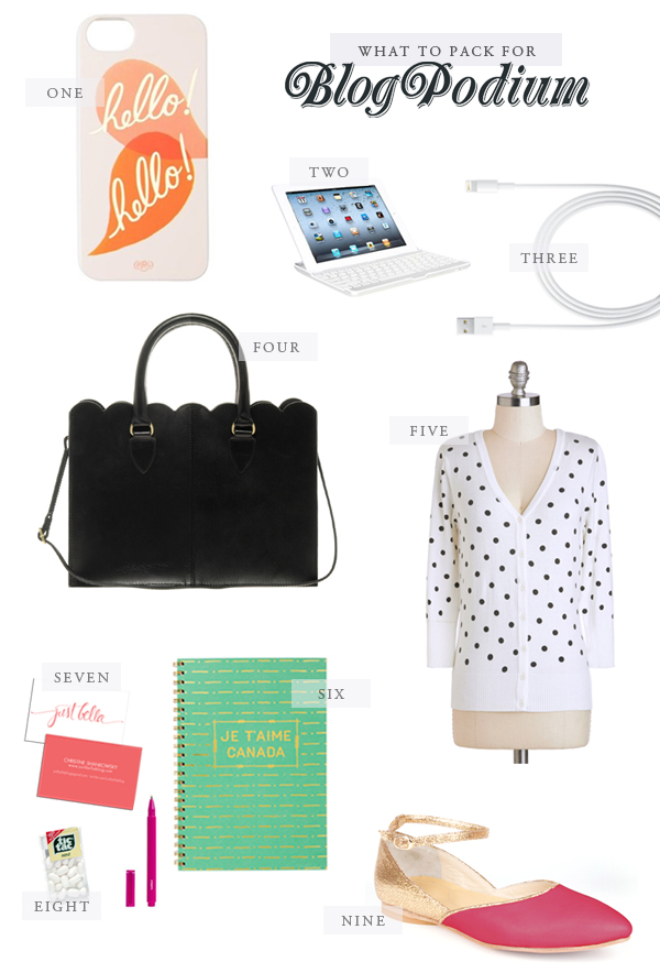 What to Pack to Blogpodium