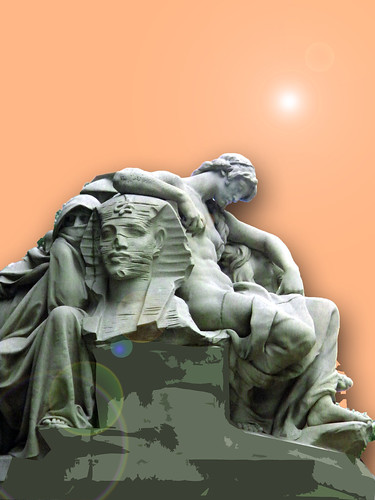 Allegorical statue of the continent of Africa by Daniel Chester French.jpg