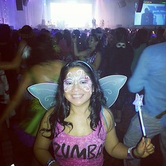 I had a costume malfunction so I ended up coming as a Zumba fairy..
