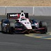 Will Power hits his apex in the Turn 9 chicane during practice at Sonoma Raceway