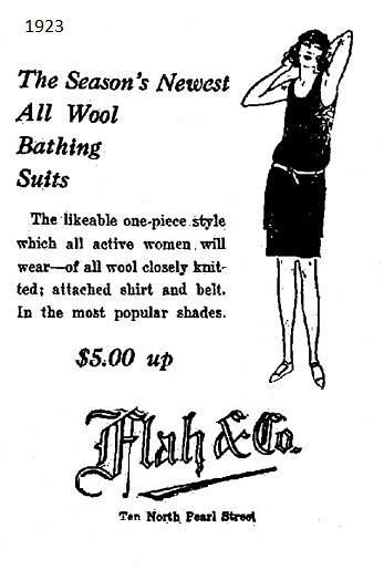 Flah's womens clothing store 1923 Albany NY (1920s)