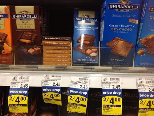 photo relating to Ghirardelli Printable Coupon titled $1/1 Ghirardelli Chocolate Bar Printable Coupon $1.00 ea at