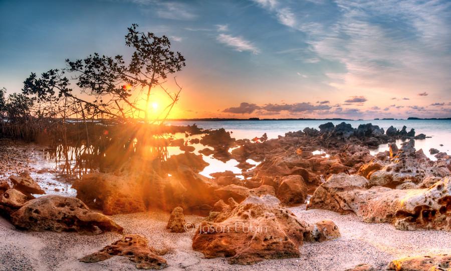 Sunrise over Limestone Rocks