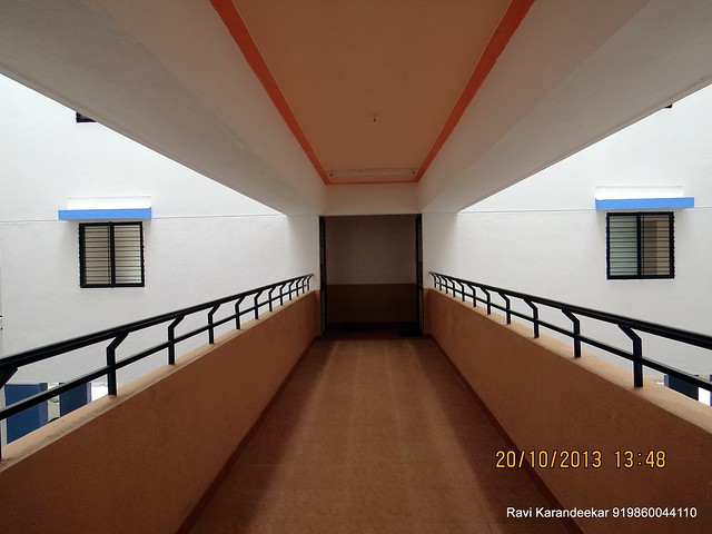 Spacious Passage with Safe Railings - Handing Over Ceremony of Sanjeevani Developers' Sangam at Sus on Sunday 20th October 2013