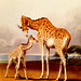 Baby Giraffe and Mother,  London Zoo, 1839