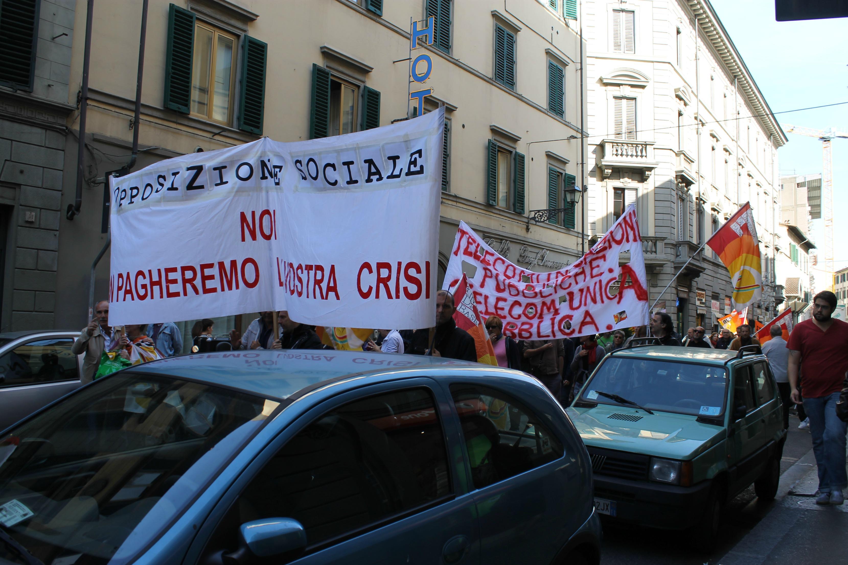 protest in Florence