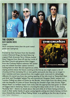 Tearsheet // The Crunch // Vive Le Rock Magazine