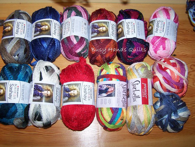 Busy Hands Quilts: Ruffle Scarves and Yarn at Wholesale Pricing!