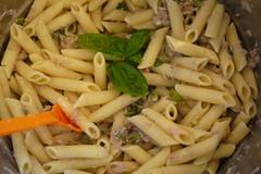 vegetarian food(0.0), bucatini(0.0), spaghetti(0.0), produce(0.0), pici(0.0), carbonara(0.0), pasta salad(1.0), pasta(1.0), spaghetti aglio e olio(1.0), penne(1.0), food(1.0), dish(1.0), cuisine(1.0),