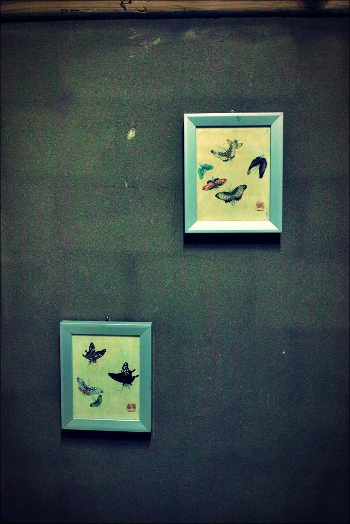 나비 액자-'경주 한옥 펜션 소요유'