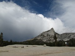 Clouds approaching over Cathedral Peak