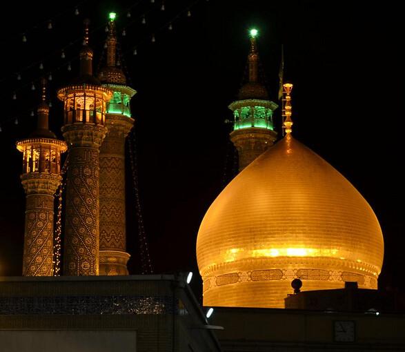 Cúpula del Mausoleo de Qom (Irán)