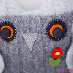 Recycled Sweater Owl #1