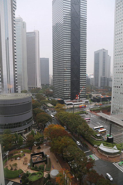 The view from my room at Hilton Tokyo