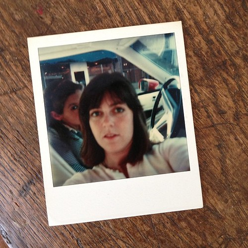 Here is a selfie before there were selfies. Circa1979. Polaroid type camera. And you will notice my sister Cindy with the photobomb...before there were photobombs.  I think I invented selfies. Cindy invented the photobomb. #invention #callmeedison #toosoo