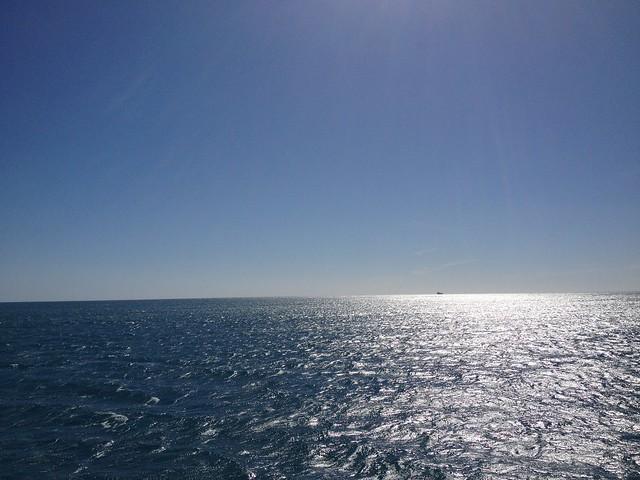 water, sky, boat